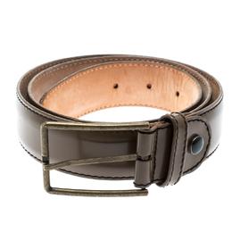 Lanvin Brown Patent Leather Belt Size 90CM 192848