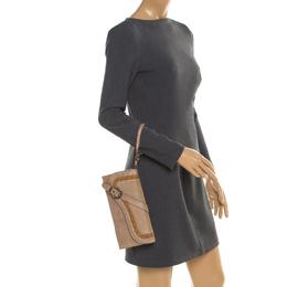 Dior Glitter Beige Leather Gaucho Saddle Clutch