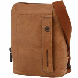 Piquadro Brown Leather Messenger Bag