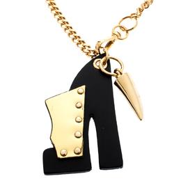 Giuseppe Zanotti Design Petit Kylie Iconic Clog Bicolor Leather Key Ring 197240