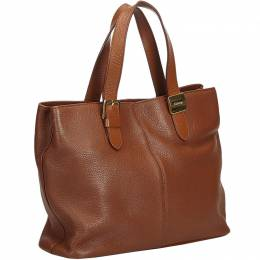 Burberry Brown Leather Everyday Bag