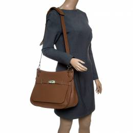 Hermes Gold Clemence Leather Jypsiere 34 Bag 147606