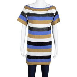 M Missoni Colorblock Striped Knit Strip Back Detail Top M 109003
