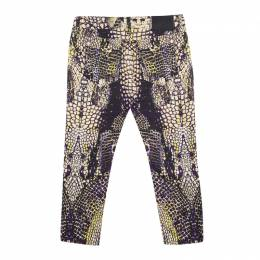 MCQ by Alexander McQueen Multicolor Printed Cropped Skinny Jeans S 144919