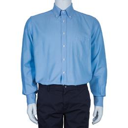 Loro Piana Men's Blue Andre Cotton Shirt L 51505