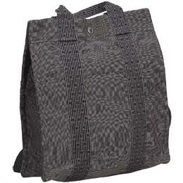 Hermes Dark Gray Canvas Herline Backpack PM Travel Backpack