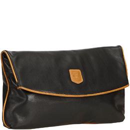 Celine Black Leather Clutch Bag 161595