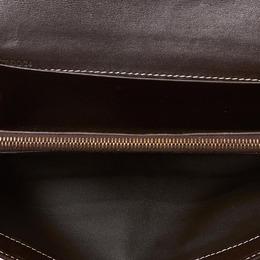 Celine Light Brown Macadam Jacquard Long Wallet 160637