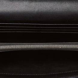 Celine Brown Jacquard Macadam Jacquard Long Wallet 160638