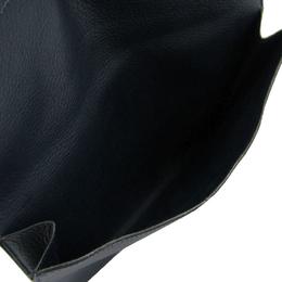 Hermes Navy Blue Leather Clutch Bag 198182
