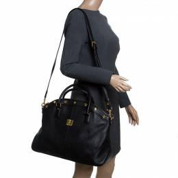 MCM Black Leather Satchel 239965