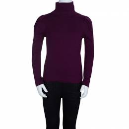 Dior Burgundy Knit Turtleneck Long Sleeve Top 8 Yrs 67174
