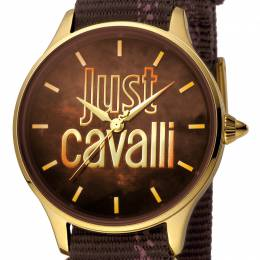 Just Cavalli Brown Gold Plated Stainless Steel JC1L032L0025 Women's Wristwatch 34MM 180081
