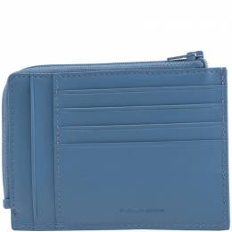 Piquadro Blue Leather Credit Card Holder 241210