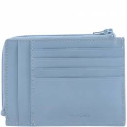 Piquadro Light Blue Leather Credit Card Holder 181631