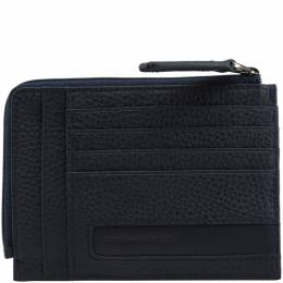 Piquadro Navy Blue Leather Credit Card Holder 181642
