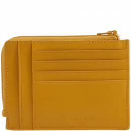 Piquadro Yellow Gold Leather Credit Card Holder 181656