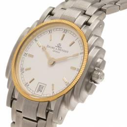 Baume& Mercier White Stainless Steel Diamond Riviera Women's Wristwatch 26MM Baume&Mercier 149343