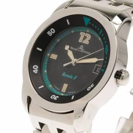 Baume& Mercier Black Stainless Steel Formula 1 Men's Wristwatch 33MM Baume&Mercier 115216