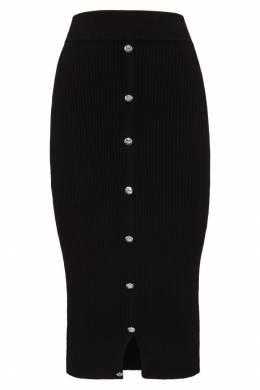 Узкая трикотажная юбка с пуговицами Philipp Plein 1795136843