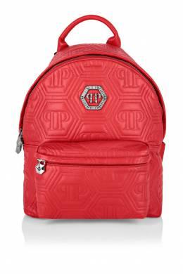 Стеганый рюкзак красного цвета Philipp Plein 1795136711