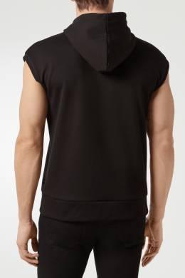 Черный жилет с капюшоном и принтом Philipp Plein 1795136797