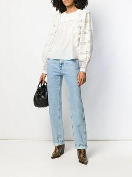 Ulla Johnson блузка с оборками и вышивкой PF190222