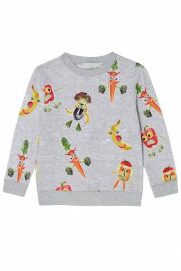 Серый свитшот с фруктами Stella McCartney Kids 1334136915