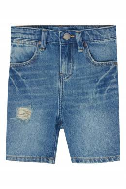 Джинсовые шорты с потертостями Stella McCartney Kids 1334136933