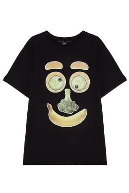 Черная футболка с овощами Stella McCartney Kids 1334136903