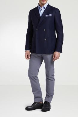 Синий двубортный пиджак Strellson 585136637