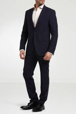 Синий однобортный пиджак Strellson 585136541