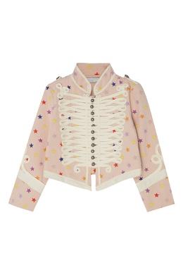 Розовый жакет в военном стиле Stella McCartney Kids 1334136905