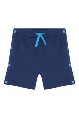 Синие шорты с кнопками Stella McCartney Kids 1334136914