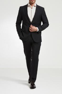 Черный классический пиджак на двух пуговицах Strellson 585136538