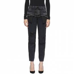 Unravel Black Double Layer Boysk Jeans 192806F06901202GB
