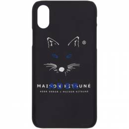 Maison Kitsune Black ADER error Edition Fox Mustache iPhone X Case 192389F03200401GB