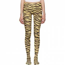 Gucci Black and Beige Zebra Print Tights 192451F07604104GB
