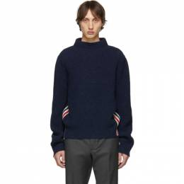 Thom Browne Navy Boat Neck Sweater 192381M20101805GB