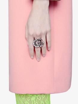 Gucci кольцо с логотипом GG и кристаллами 529050J1D50