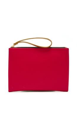 Красно-зеленый кожаный клатч Marni 294137370