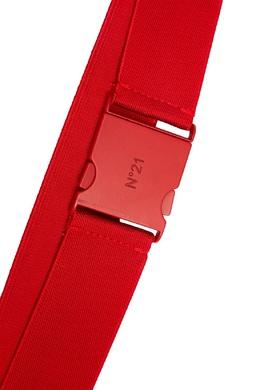 Красный ремень с пластиковой застежкой No. 21 35137574