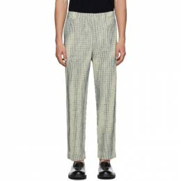 Homme Plisse Issey Miyake Off-White MC June Network Check Trousers 192729M19102401GB