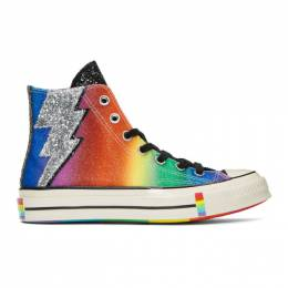 Converse Black and Multicolor Chuck 70 Pride High Sneakers 192799M23600714GB