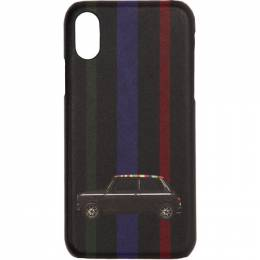 Paul Smith Black New Mini iPhone X Case 192260M15300101GB