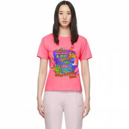Vetements Pink Vacation Cropped T-Shirt 192669F11001804GB