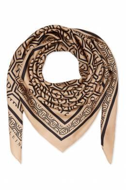 Бежевый платок с узором Philipp Plein 1795138398