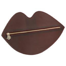 Charlotte Olympia Bordeaux PVC Lip Clutch