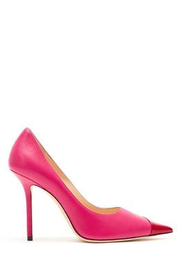 Красно-розовые туфли Love 100 Jimmy Choo 25138470