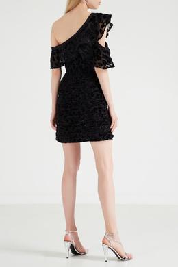 Асимметричное платье с леопардовым мотивом Self-portrait 532138430